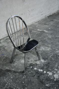 Windsor aluminium chair - Antipod Architects