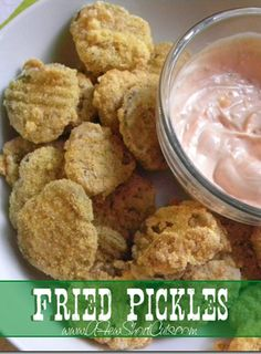 This is a fav at my house Fried Pickles #recipe from AFewShortCuts.com #glutenfree