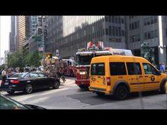 FDNY - Full house response - NEW Engine 54 + Ladder 4 + Battalion 9 - YouTube