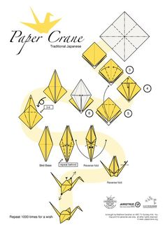 Traditional Japanese paper Crane