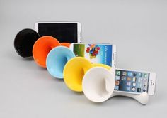 New Ceramic booster Amplifier Non-power speaker Galaxy 3 4 Note 1 2 3 iphone 4 5