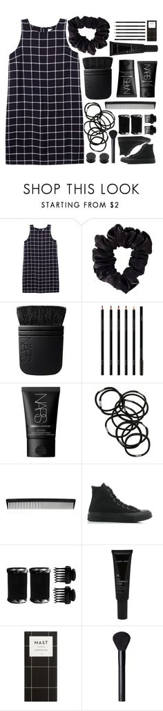"""""""⚫️⚪️"""" by thatgirlacrossthestreet ❤ liked on Polyvore featuring Olive + Oak, American Apparel, NARS Cosmetics, Guerlain, Monki, T3, Converse and Allies of Skin"""
