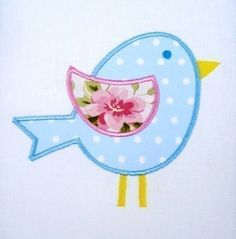 Bird  Chick Applique Machine Embroidery 4x4 by DigitizedCreations, $3.99