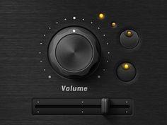 Volume slider - synthesizer app by Mikael Meidenberg.