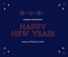 Wishing every day of the new year to be filled with success, happiness and prosperity for you, happy new year! Echat123.com #echat #holidays #newyear #goals #happiness New Day, Happy New Year, Quote Of The Day, Online Marketing, Improve Yourself, Wish, Language, Happiness, Success