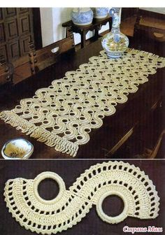 This is a beautiful and unique table runner!!...There are diagrams and a picture tutorial!!