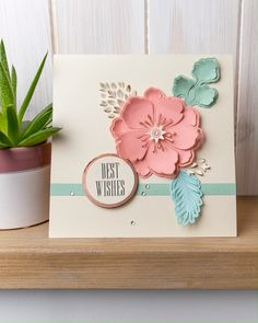 A papercraft peony to make your cards pop! 🌺😍🌸 Click to shop now! #sizzix #papercraft #papercraftideas #paperflowers #cardmaking #cardmakingideas #handmadecard #popupcards #popoutcards #3Dcards