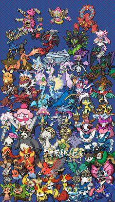 All Pokemon Generations Cross Stitch Patterns Zoroark Pokemon, Kalos Pokemon, Pokemon Pokedex, Pokemon Funny, Pokemon Fan Art, Cool Pokemon, Gen 6 Pokemon, Digimon, All Legendary Pokemon