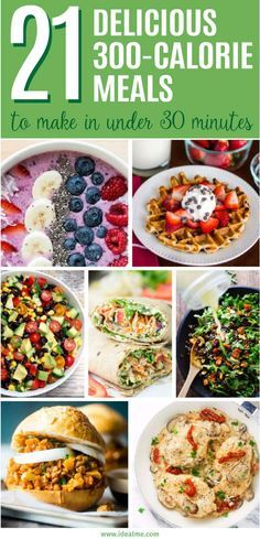 meals you can make in under 30 minutes - we've found 21 quick, healthy and tasty meals that won't sabotage your waistline. meals you can make in under 30 minutes - we've found 21 quick, healthy and tasty meals that won't sabotage your waistline. 1200 Calorie Meal Plan, Low Calorie Dinners, No Calorie Foods, Low Calorie Recipes, 300 Calorie Dinner, 300 Calorie Breakfast, Healthy Low Calorie Meals, Under 200 Calorie Meals, Dinner Under 300 Calories