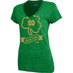 Notre Dame tri-blend short sleeve v-neck t-shirt