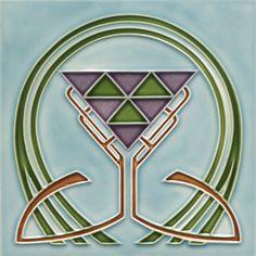 I really love this one ~ ceramic tile Art Nouveau Mehr Ceramic Tile Art, Mosaic Art, Mosaic Tiles, Art Tiles, Porcelain Tile, Motifs Art Nouveau, Azulejos Art Nouveau, Art Nouveau Tiles, Art Nouveau Design