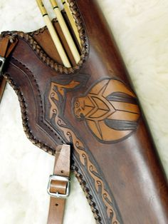 Handmade leather quiver