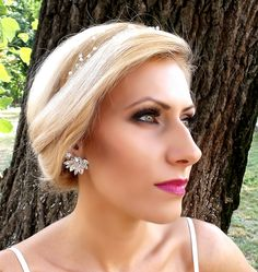 Bridal Angel Wings Earrings made with Swarovski Elements