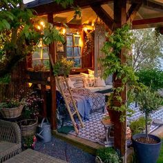 Check out this outstanding garden decor idea where so smooth and cool taste of t. Check out this outstanding garden decor idea where so smooth and cool taste of the decor has been adjusted at the best. Outdoor Rooms, Outdoor Living, Outdoor Decor, Outdoor Venues, Outdoor Seating, Outdoor Gardens, Aesthetic Room Decor, Dream Rooms, Backyard Patio
