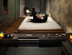 Mandarin Oriental Barcelona, Spa Thai Futon Treatment room- Spa suites for couples Mandarin Oriental, Spas, Patricia Urquiola, Design Logo, Spa Design, Luxury Rooms, Luxury Spa, Luxury Hotels, Barcelona Pictures