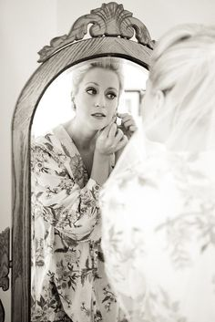 In Front of the Mirror...and also one of when I see myself all done up for the first time