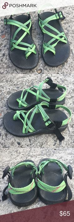 Chacos green strappy sandals size 6 Classics! Gently preloved condition, as shown in the pictures. Perfect for warm weather ahead! Chacos Shoes Sandals