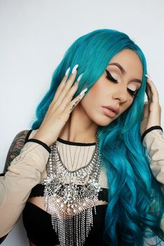 #coloured hair ♥ I bet you wish you had hair like this - Enjoy with love from http://www.shop.embiotechsolutions.co.uk/AquaFresh-EM-Ceramics-Water-Butt-Treatment-250g-AquaFresh250.htm