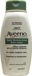 Aveeno Active Naturals Daily Moisturizing Body Wash with Natural Oatmeal, 18 Ounce Bottle***Cleanses and moisturizes for visibly healthier skin every time you shower,Helps replenish skin's natural moisture,Lightly fragranced,Gentle enough for sensitive skin,Soap-free,.