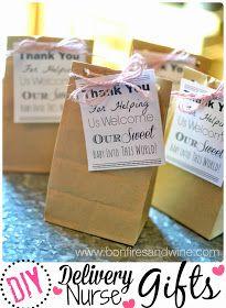 Bonfires and Wine: DIY Labor & Delivery Nurse Gifts