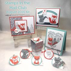 Ideas, exclusive kits and tutorials for Stampin Up Products. Learn techniques, choose free supplies or explore Paper Pumpkin and monthly clubs by mail. Stampin Up Foxy Friends Cards, Foxy Friends Punch, Cards For Friends, Fun Fold Cards, Folded Cards, Cat Cards, Kids Cards, Slider Cards, Christmas Card Crafts