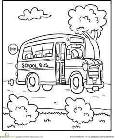 Top 10 Free Printable School Bus Coloring Pages Online | School ...