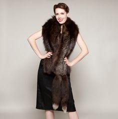 Vintage 1930s Fox Fur Stole #vintage #1930s #1940s #fox #fur #stole #scarf #wrap #winterfashions