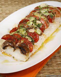 Pizza of Roast Cod Spiked with Chorizo, Tomatoes & Mushrooms - Chef Eric Ripert...