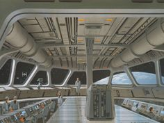 Imperial Star Destroyer Bridge by Ralph McQuarrie