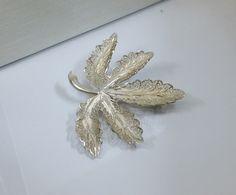 Vintage Broschen - Brosche Silber 925 Blatt Topazio Portugal SB211 - ein Designerstück von Atelier-Regina bei DaWanda