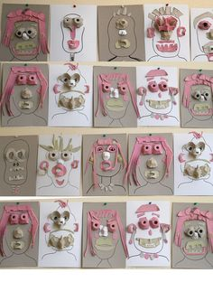 Egg carton people - what a fun 3-D collage idea for kids!