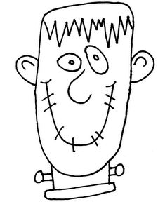 Frankinstein. Guided drawing/writing activity for Halloween?