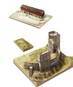 Hill fort cross section, illustration