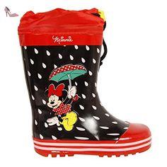 Bottes de pluie pour Fille DISNEY DM000210-B4643 RED-BLACK Taille 35 - Chaussures disney (*Partner-Link)