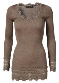 Rosemunde Babette Silk top w//Vintage lace-Med