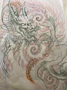 Japanese Tattoo Designs, Japan Tattoo, Oriental Tattoo, Yakuza Tattoo, Samurai Art, Surfboards, Tattoo Sketches, Life Tattoos, Painting & Drawing