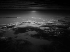 Sunset - upside down, in black and white
