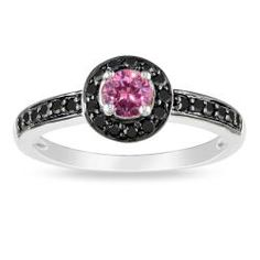 @Overstock - Pink and black diamond ring10-karat white gold jewelry Click here for ring sizing guidehttp://www.overstock.com/Jewelry-Watches/Miadora-10k-White-Gold-3-5ct-TDW-Pink-and-Black-Diamond-Halo-Ring/6537615/product.html?CID=214117 $594.99