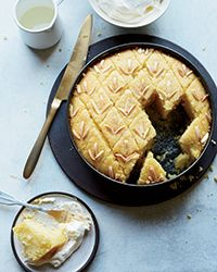 This supereasy Middle Eastern semolina cake is made in just one bowl. Get the recipe from Food & Wine.