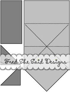 024 quarter fold envelope template scanncut on craftsuprint designed