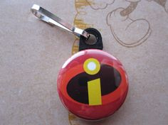 The Incredibles keychain. Disney / Pixar / The Incredibles. Button badge style keychain.