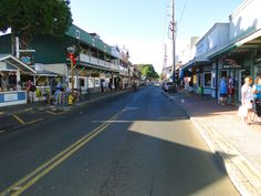 Lahaina Street - Maui. When we went summer 2012 we actually stayed right on front street in those green apts on the left. Gotta love having connections :) I loved waking up to see the sunrise over the ocean while nursing the twins. Dreaming of a warmer climate tonight....