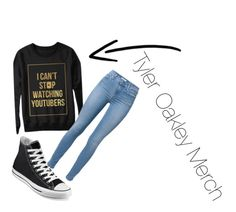 Tyler Oakley Merch by amna107 on Polyvore featuring polyvore, fashion, style, 7 For All Mankind and Converse