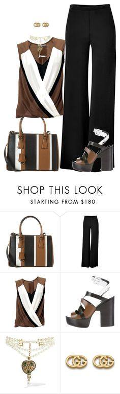 """""""Sin título #1851"""" by marisol-menahem ❤ liked on Polyvore featuring Prada, Donna Karan, Pierre Hardy and Gucci"""