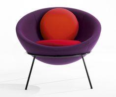Fauteuil en tissu Bardi Bowl Chair, Lina Bo Bardi (Arper chez Silvera)