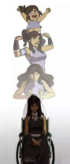 Korra in her transitions...
