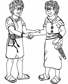 David and Jonathan bible lesson ~ David and Jonathan coloring pages