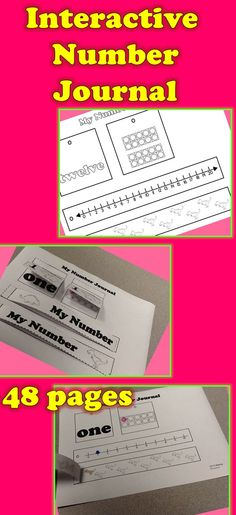 INTERACTIVE JOURNAL FOR NUMBERS 48 pages to help your students with their numbers 1-20 #numbers #interactivejournal #math