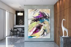 Large Painting on Canvas,Original Painting on Canvas,painting for home,large wall art decor,large art on canvas Large Artwork, Large Painting, Large Wall Art, Interior Wood Shutters, Mid Century Wall Art, Oversized Wall Art, Artwork Display, Decorating With Pictures, Abstract Wall Art