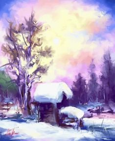 Discover & share this Winter GIF with everyone you know. GIPHY is how you search, share, discover, and create GIFs. Winter Painting, Winter Magic, Digital Art, Digital Paintings, Artist Names, Pictures To Draw, New Artists, Pastel Colors, All Art
